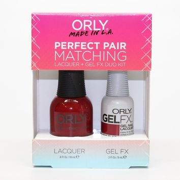 ORLY Perfect Pair Nail Polish + Gelfx Duo Kit Red Flare