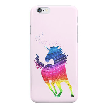 Unicorn iPhone Case, Pink Rainbow Unicorn Samsung Galaxy Case, Gift for Girls