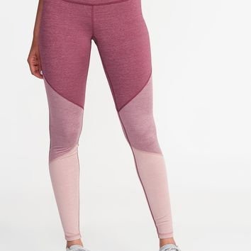 High-Rise Color-Block Compression Leggings for Women | Old Navy
