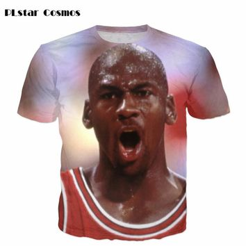 2017 Summer New Fashion T Shirt Jordan No. 23 Jersey Print Harajuku Men's 3D T-shirt casual tops  size S-5XL free shipping