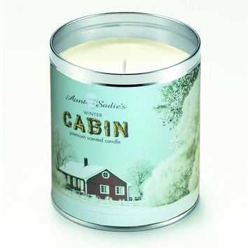 Winter Cabin Candle