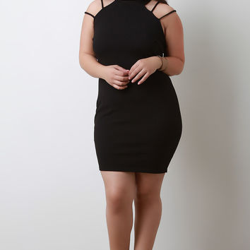 Caged Back Bodycon Dress