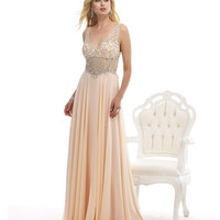 Preorder - Morrell Maxie 14849 Blush Pink Beaded Bodice Gown 2015 Prom Dresses