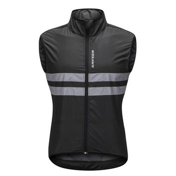 Running Vests Jogging Reflective Vest for Cycling Running Sleeveless Shirts Men Women Reflection bike vests reflecterende clothes bicycle cycling vest KO_11_1