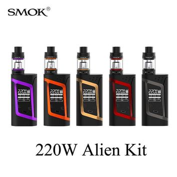 Vape Electronic Cigarette Vaporizer Electronic Hookah Pen Alien Kit 220W E cigarette Box Mod Kit for TFV8 Baby Tank X1082