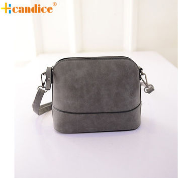 Naivety 2016 New Fashion Women Small messenger Bag Faux Nubuck Leather Scrub Shell Bags Lady Shoulder Purses Handbag JUN23