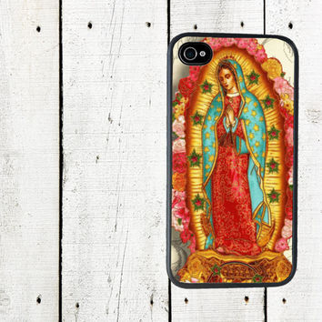 iPhone 4 Case - Virgen de Guadalupe iPhone Case - Cell Phone Case - iPhone 5 Case - Gifts Under 25