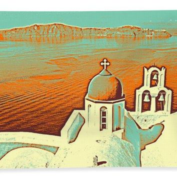 Santorini Greek Island Caldera, Greece 9 - Bath Towel