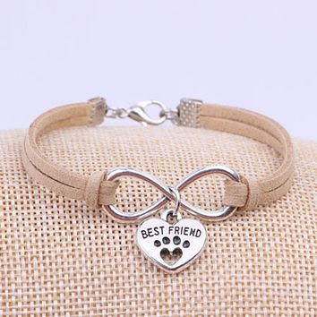 KITTEN PAW INFINITY BEST FRIEND BRACELET