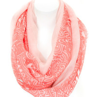 Squiggles and Lines Infinity Scarf