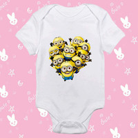 Minion Happy Army baby shirt Onesuit - Minion Happy Army baby shirt - baby Onesuit - baby clothes - baby clothing - gift Onesuit