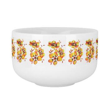 Elegant Orange Flowers Soup Mug