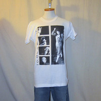 Vintage Deadstock 1986 10,000 MANIACS NATALIE MERCHANT Band Graphic Rare Screen Stars Music Small Medium Cotton T-Shirt