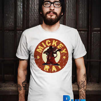 MICKEY RAT Circle Men T-Shirt - Mickey Angry T-Shirt - Mickey Mouse T-Shirt - Disney Design T-Shirt for Men (Various Color Available)
