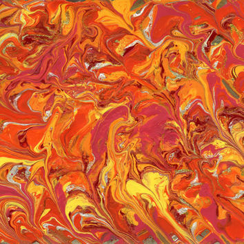 Orange, yellow and pink abstract painting 8x10 One of a kind