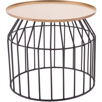 Gold & Black Tray Table, Large