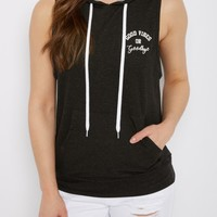 Good Vibes Sleeveless Hoodie | Hoodies | rue21