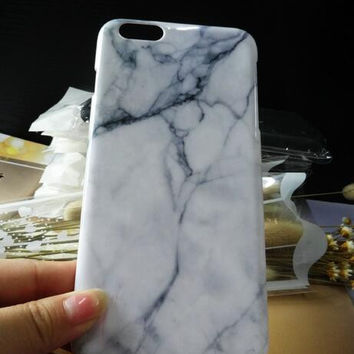 White marble mobile phone case for iphone 5 5s SE 6 6s 6 plus 6s plus + Nice gift box 71501