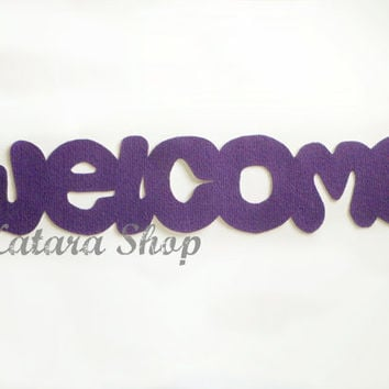 Doormat Welcome by Xatara on Etsy