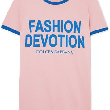 Dolce & Gabbana - Printed cotton-jersey T-shirt