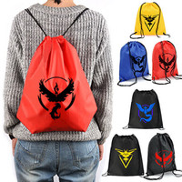 2016 Hot Pokemon Go Women Bags 6 Colors School Shoulder Bag Rucksack Canvas  bags Headwear