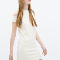 Dress with shoulder cut-out