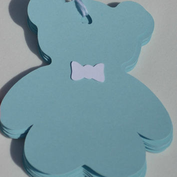 Teddy Bear Tags, Baby Shower Tags, Gender Reveal Tags