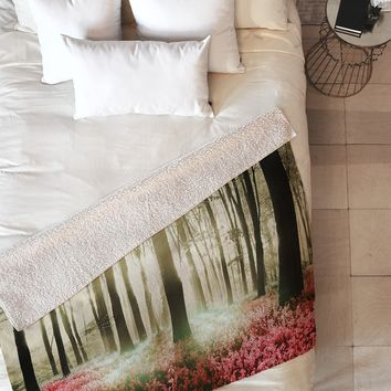 Viviana Gonzalez Forest II Fleece Throw Blanket