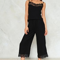New Lace On Life Striped Top and Pants Set