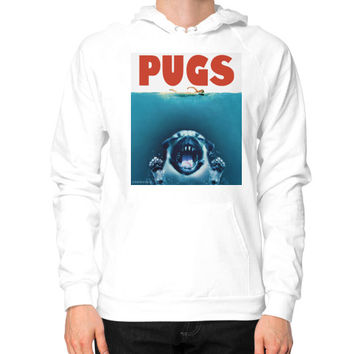 PUGS (jaws) Hoodie (on man)