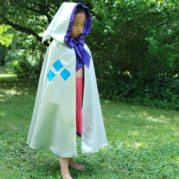 White and Purple Hooded Cape, My Little Pony Inspired