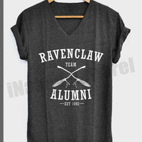 Team Ravenclaw Alumni Shirt Harry Potter Shirts V-Neck Unisex S M L