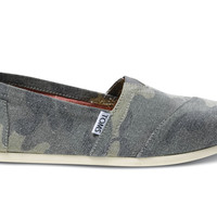Green Washed Camo Canvas Women's Classics US