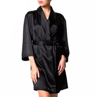 Silk women's dressing gown