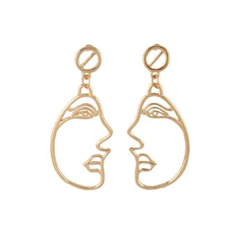Abstract Face Metal Earrings