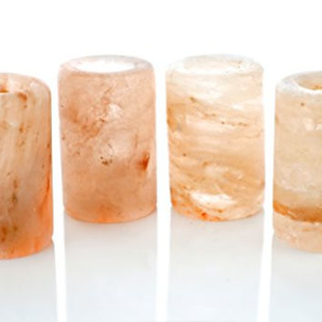Himalayan Salt Shot Glasses 3-Ounce Shot Glasses Set of 4 Pink Shot Glasses Perfect For Your Tequila Shots Enjoy Benefits Of Himalayan Salt With Every Shot