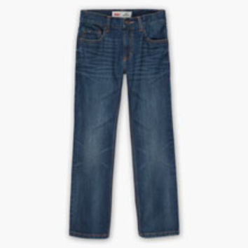 Boys' Levi's Big (8-20) 505 Regular Fit Jeans (Slim) - Blue - Kids
