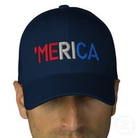 'merica embroidered baseball cap from Zazzle.com