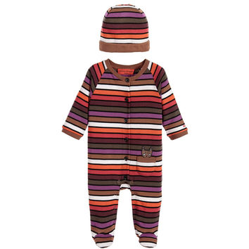 Sonia Rykiel Baby Striped Romper Hat Gift Set