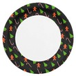 Paper Plate with Cheerful Christmas Theme 9 Inch Paper Plate