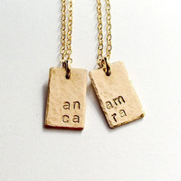 """""""Anam Cara"""" Necklaces Set for Best Friends, Mothers & Daughters or Sisters"""