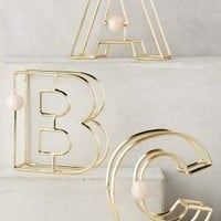 Illusion Monogram Letter by Anthropologie in Gold Size: