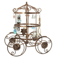 Cinderella Rotating Carriage Jewelry Storage / Earring Organizer / Bracelet Necklace Hanger Display Stand