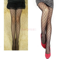 Sexy Grid Net Pattern See Through Pantyhose Stockings Leggings Black Women  6001 Trousers One size (Color: Black) = 1745656068