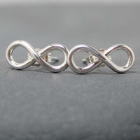 $29.50 INFINITY stud post earrings by RoyalCountess on Etsy