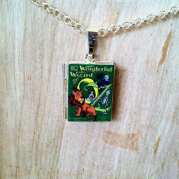 The Wonderful Wizard of Oz - L. Frank Baum - 2 cover options - Literary Locket -  Book Cover Locket Necklace
