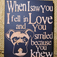 Thanksgiving Sale Saw you I fell In Love - Boxer -Unique Canvas Art, wall decor, wall art, Custom Dog  Breed, Pet  Art