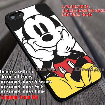 Cute Face Cartoon Vintage Art Color Style, Mickey Mouse, Disney Character, case/cover for iPhone 4/4s/5/5c/6/6+/6s/6s+ Samsung Galaxy S4/S5/S6/Edge/Edge+ NOTE 3/4/5 #cartoon #animated #disney #MickeyMouse ii