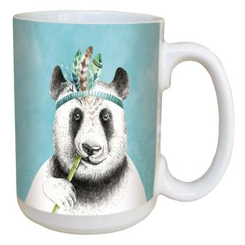 Boho Panda Mug - Large 15 oz Ceramic Coffee Mug