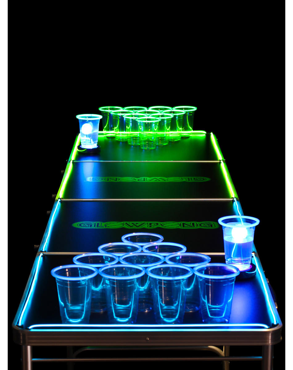 Glowing 8ft Beer Pong Game Table From Spencers Gifts Party